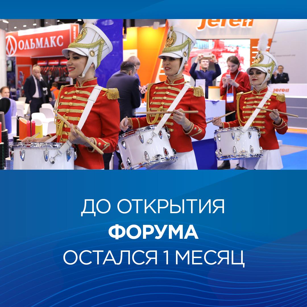 До старта X Юбилейного Петербургского международного газового форума остался месяц